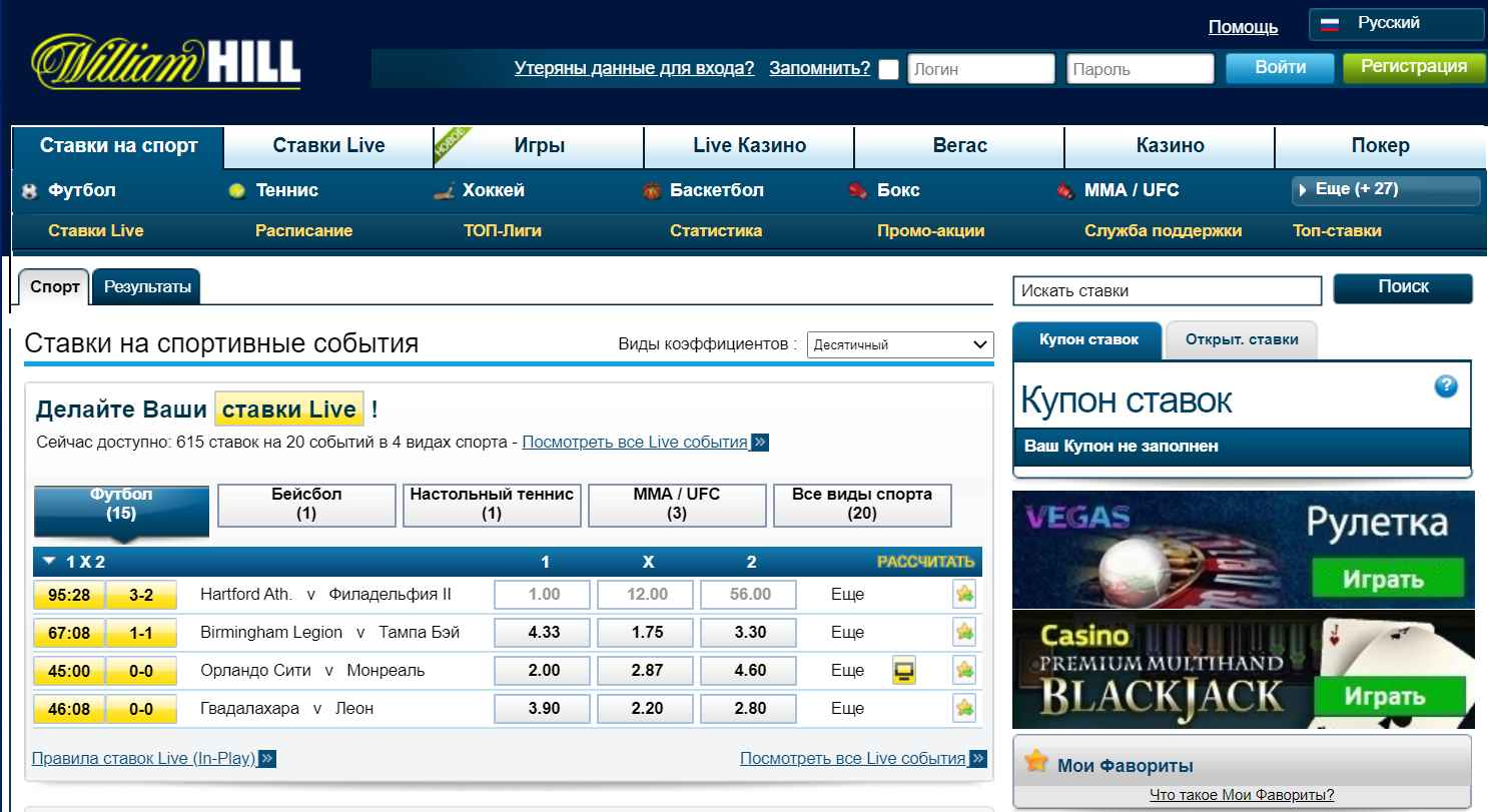 зеркало William Hill в Казахстане